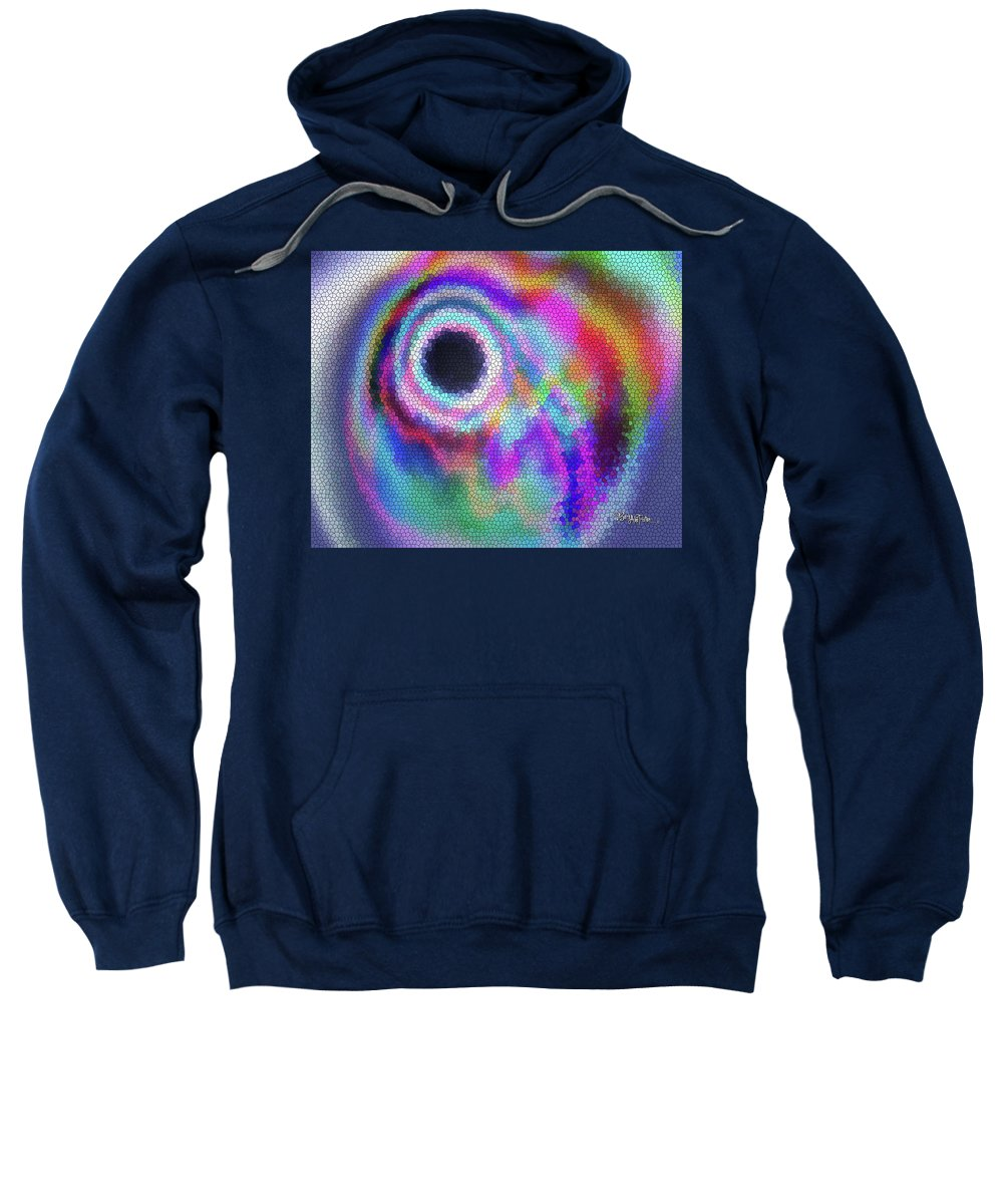 Stained Glass Sweatshirt featuring the digital art Stained Glass Morph #107 by Barbara Tristan