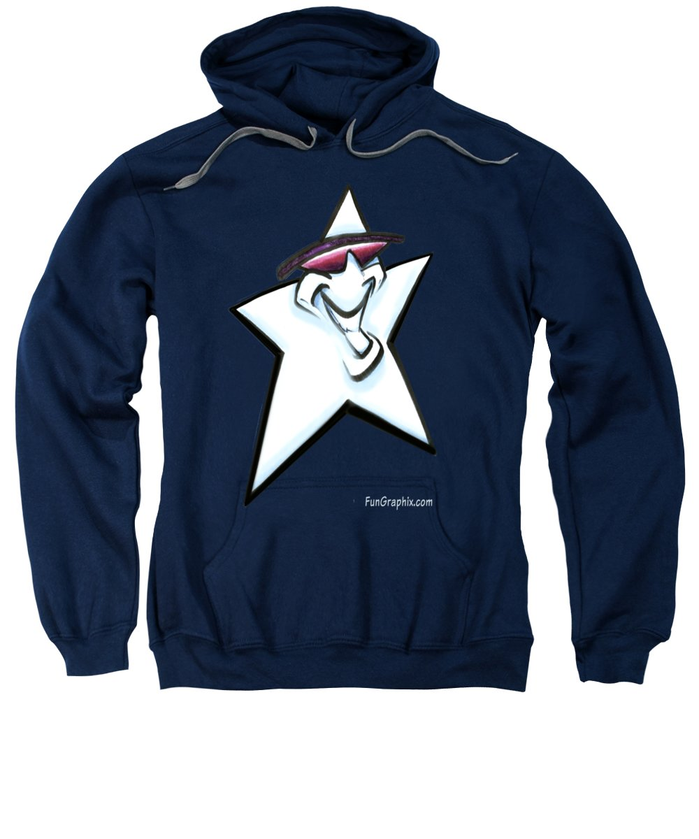 Star Sweatshirt featuring the digital art Star by Kevin Middleton