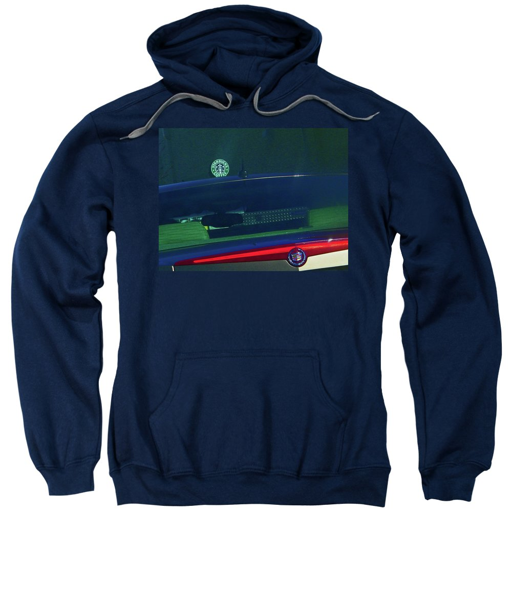Abstract Sweatshirt featuring the digital art Starbucks 2 by Lenore Senior