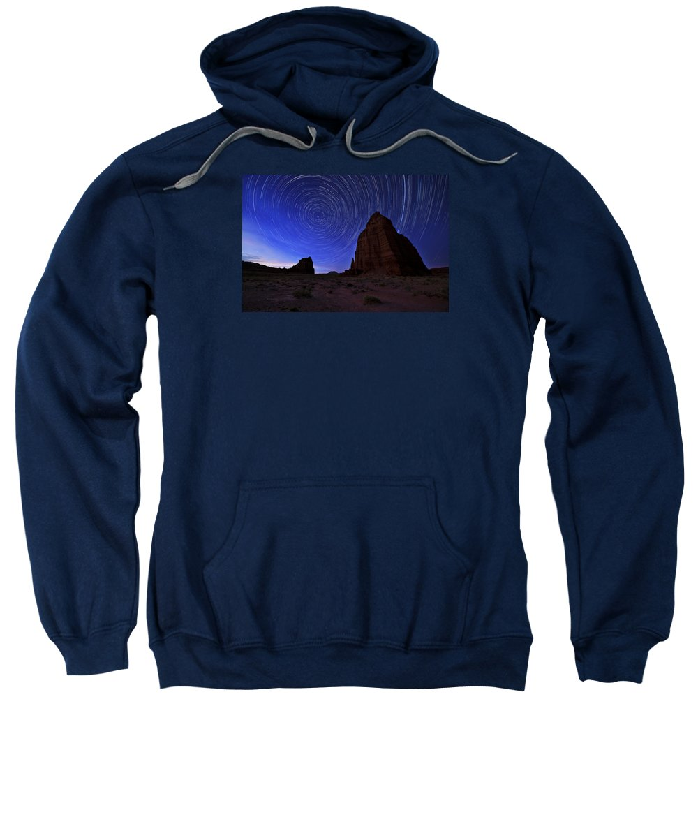 Stars Above The Moon Sweatshirt featuring the photograph Stars Above The Moon by Chad Dutson