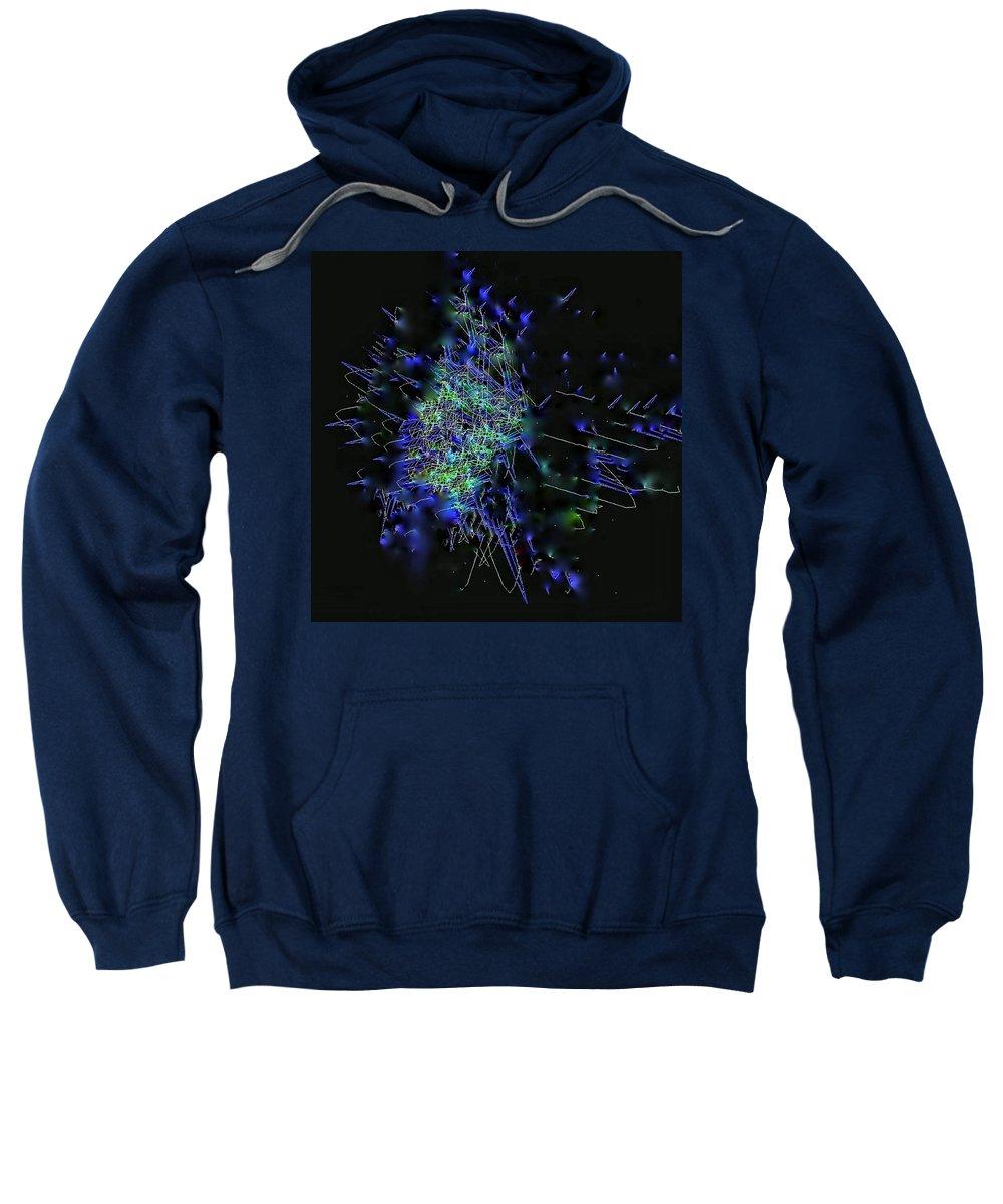 Sweatshirt featuring the digital art Static by Thomas Gastineau