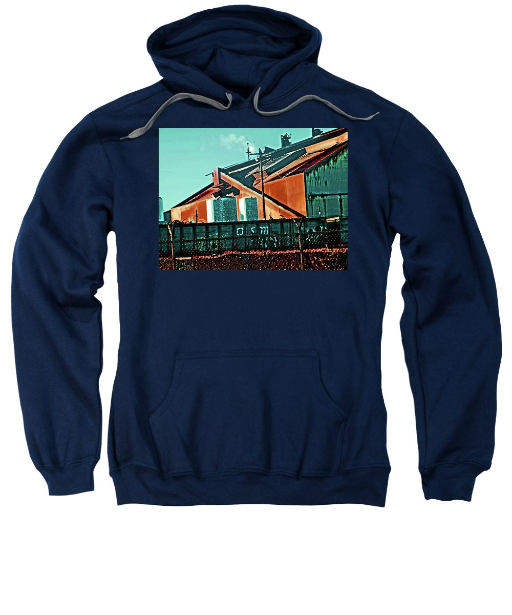 Abstract Sweatshirt featuring the digital art Steel City Cfi by Lenore Senior