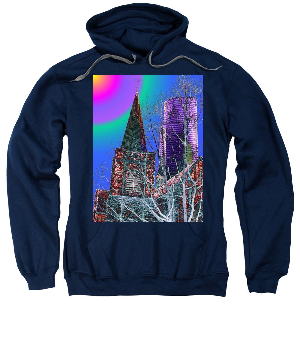 Seattle Sweatshirt featuring the digital art Steeple And Columbia by Tim Allen