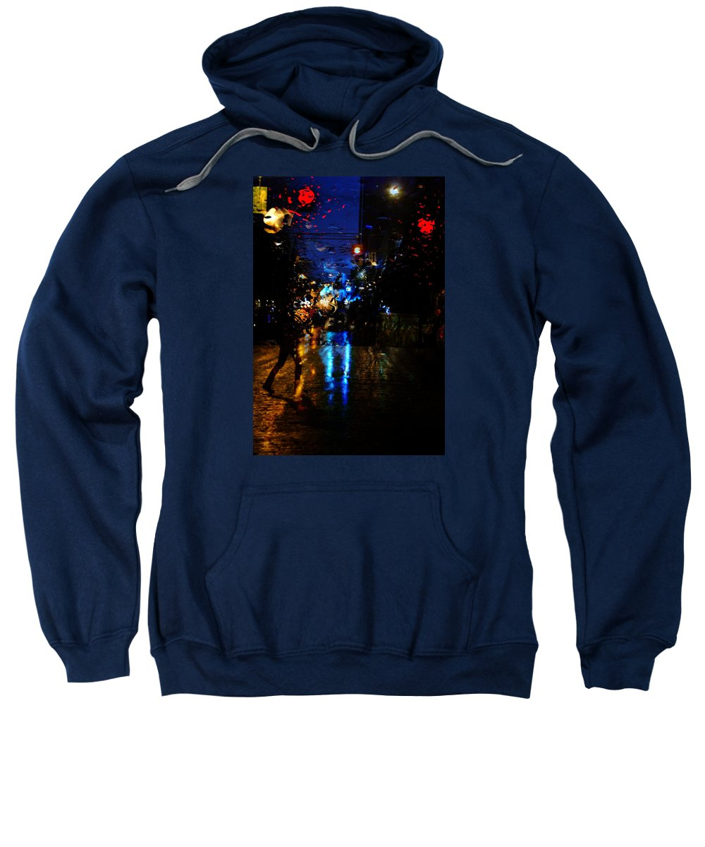 Street Photography Sweatshirt featuring the photograph Steps Towards Night by The Artist Project