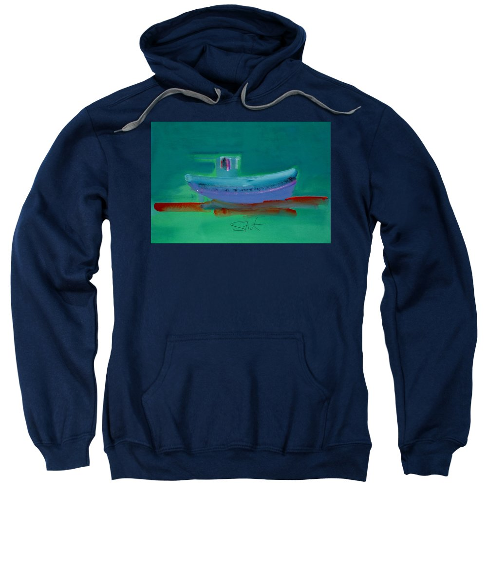 Deep Sweatshirt featuring the painting Stormbringer by Charles Stuart
