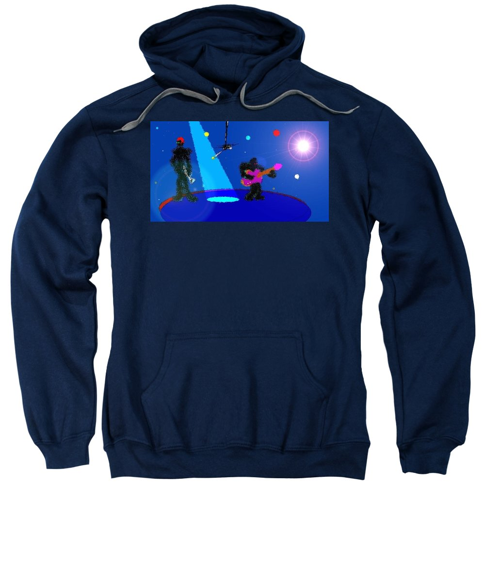 Sweatshirt featuring the digital art Studio2 by Clarence Musgrove Jr