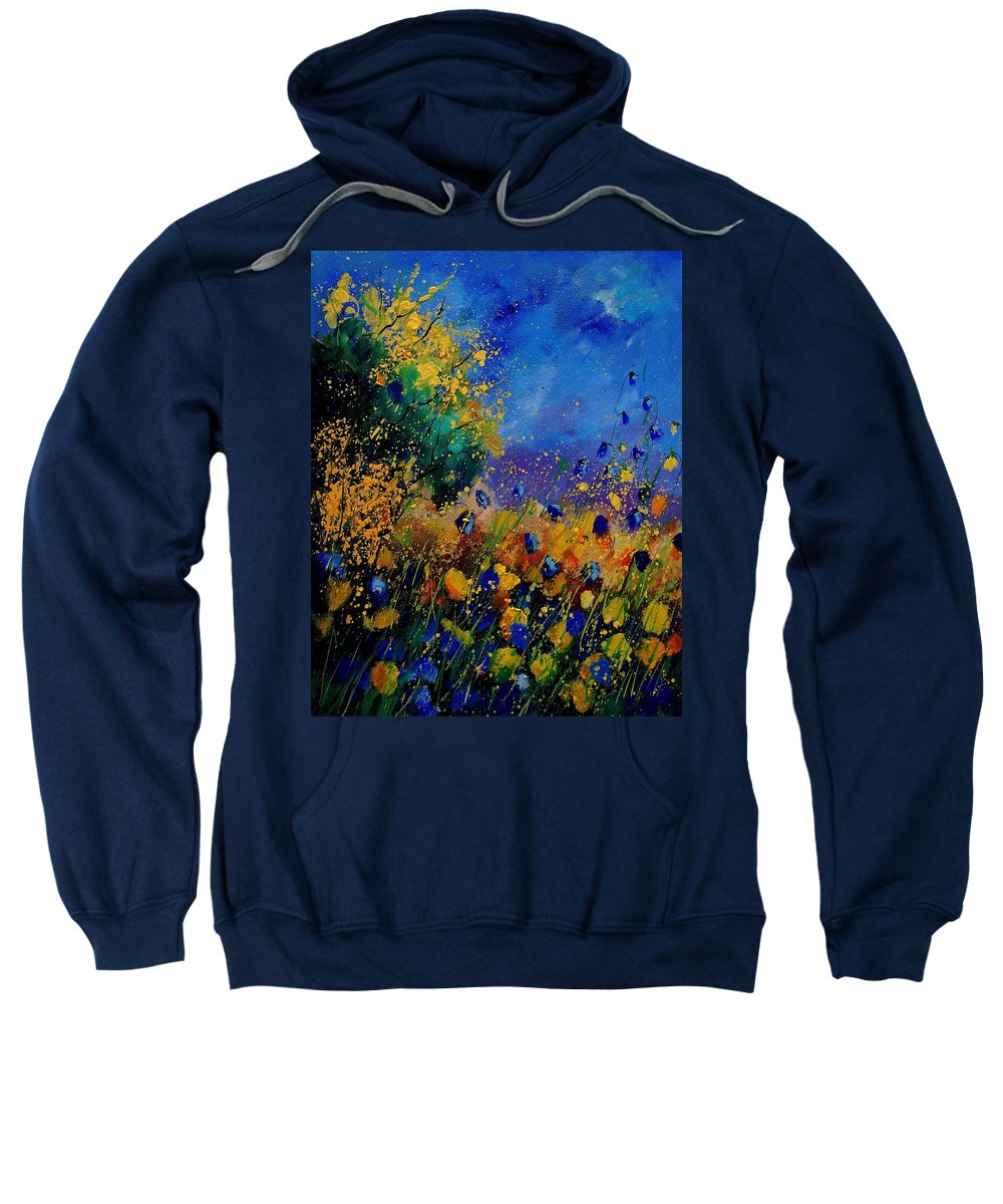 Poppy Sweatshirt featuring the painting Summer 459090 by Pol Ledent