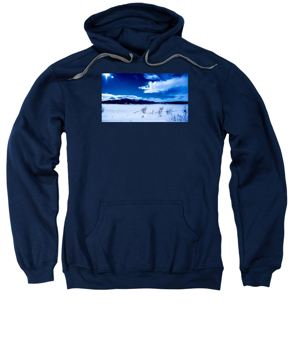 Sun Sweatshirt featuring the photograph Sun Break On The Lake by Jonathan Horan