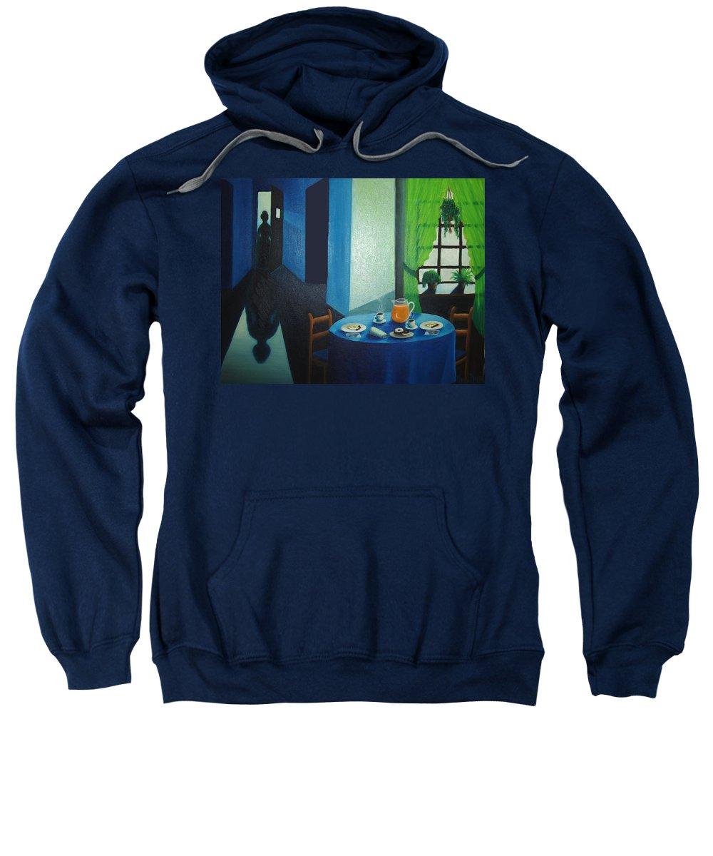 Breakfast Sweatshirt featuring the painting Sunday Morning Breakfast by Nancy Mueller