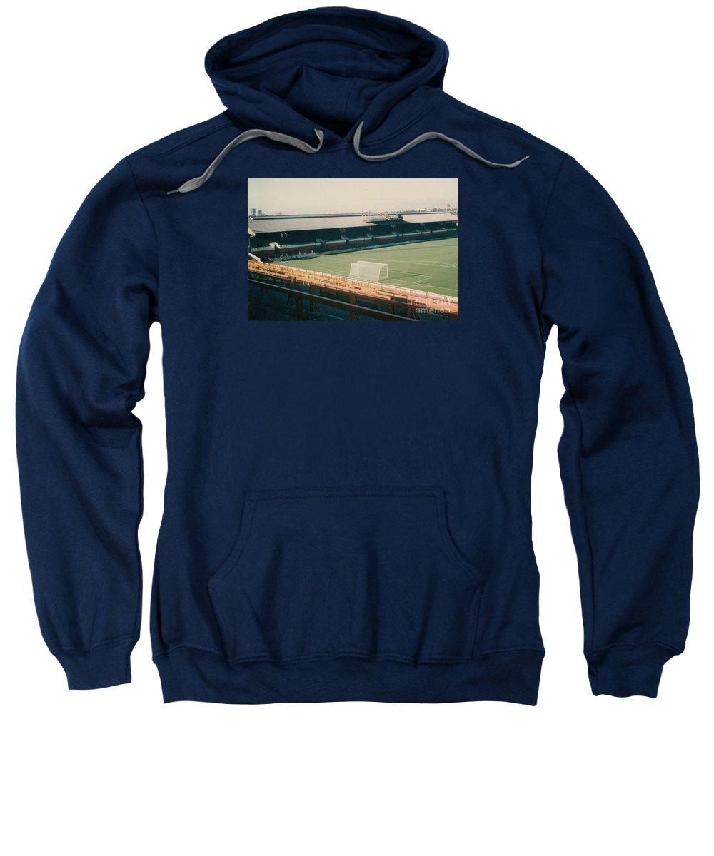 Sweatshirt featuring the photograph Sunderland - Roker Park - Clock Stand 1 - Leitch - 1970s by Legendary Football Grounds