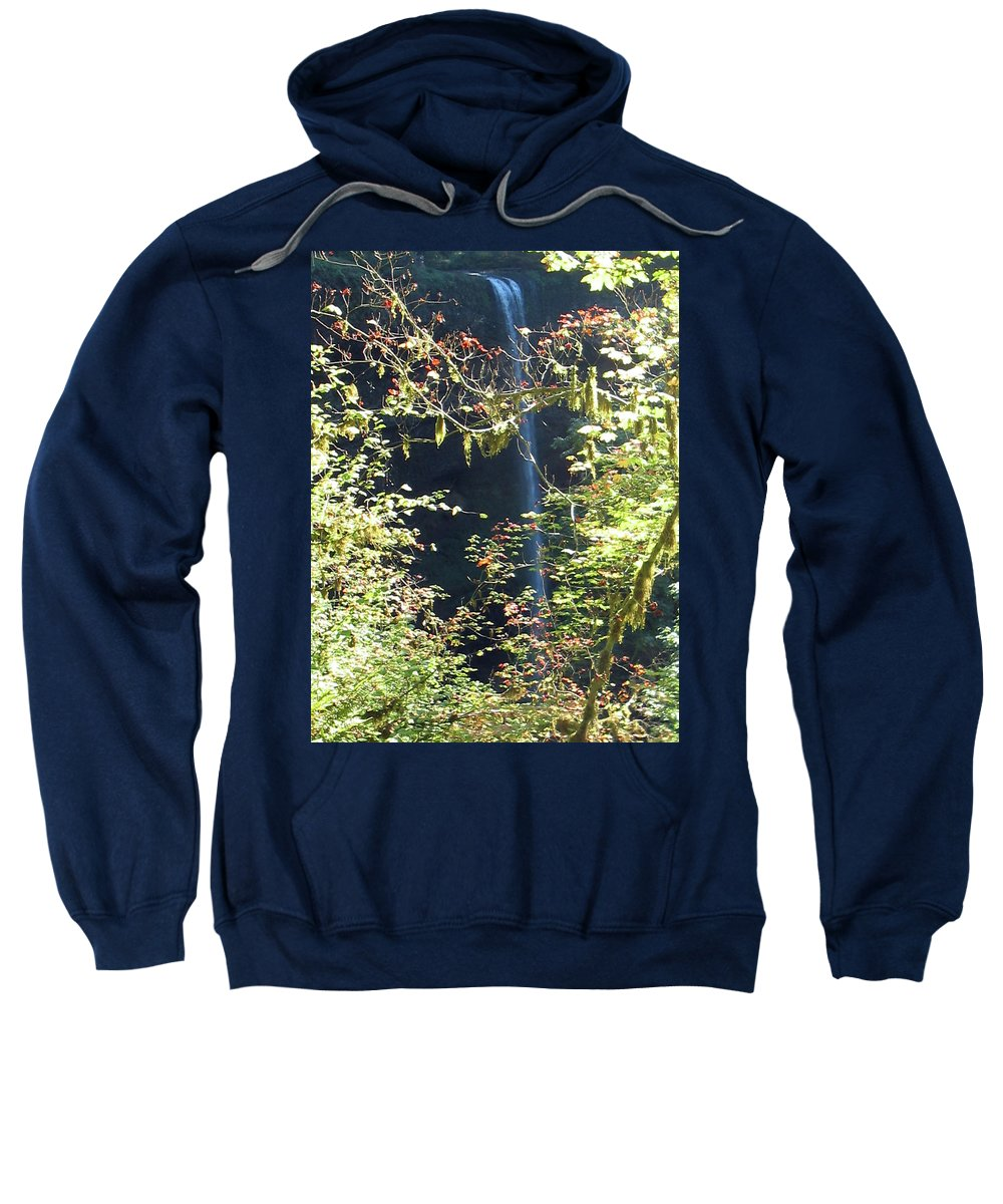 Landscape Sweatshirt featuring the photograph Sunlite Silver Falls by Thomas J Herring