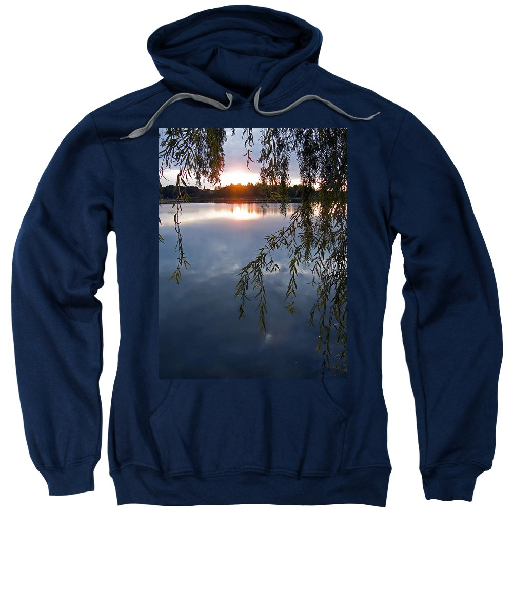 Nature Sweatshirt featuring the photograph Sunset by Daniel Csoka