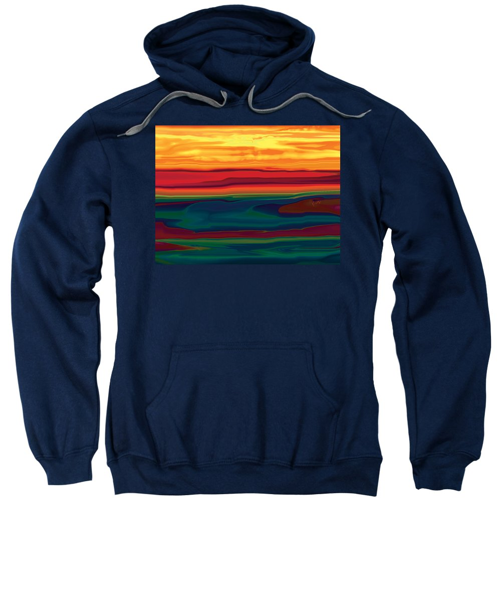 Art Sweatshirt featuring the digital art Sunset In Ottawa Valley by Rabi Khan