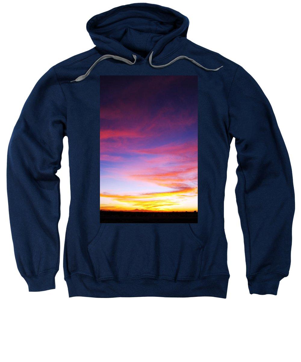 Sunset Sweatshirt featuring the photograph Sunset Over Desert by Jill Reger