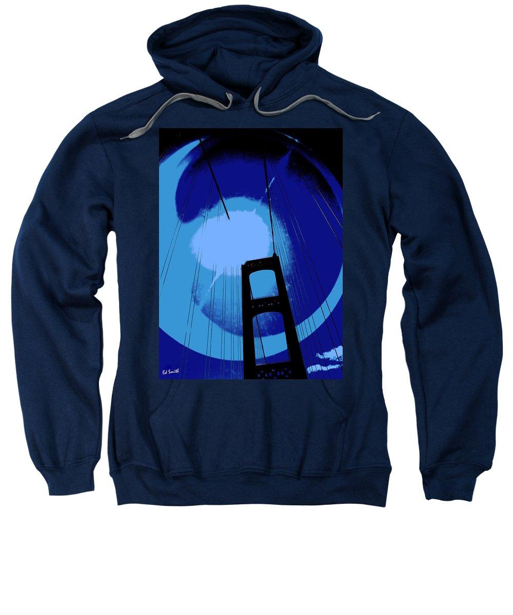 Sunshine Bridge Sweatshirt featuring the photograph Sunshine Bridge by Ed Smith