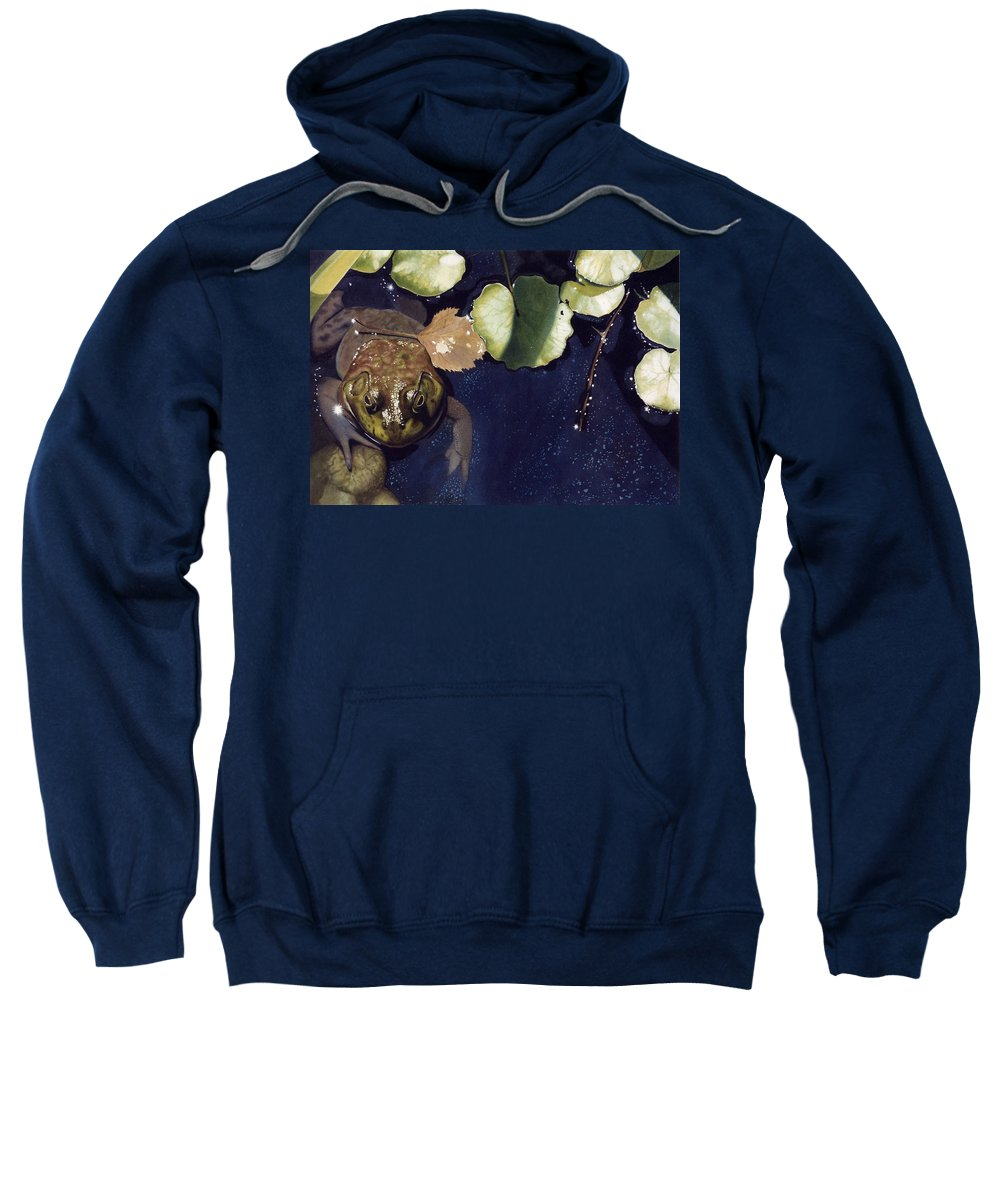 Frog Sweatshirt featuring the painting Sunspots by Denny Bond