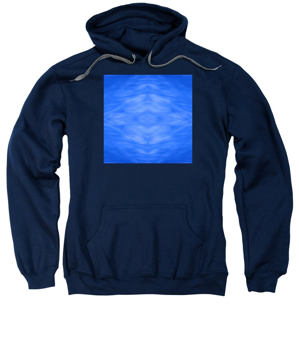 Geometric Design Sweatshirt featuring the digital art Surface Tension by Suzi Freeman