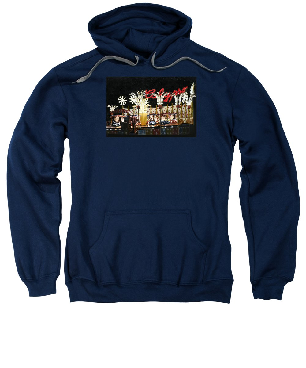 Surreal Sweatshirt featuring the painting Surreal Carnival by Dave Martsolf