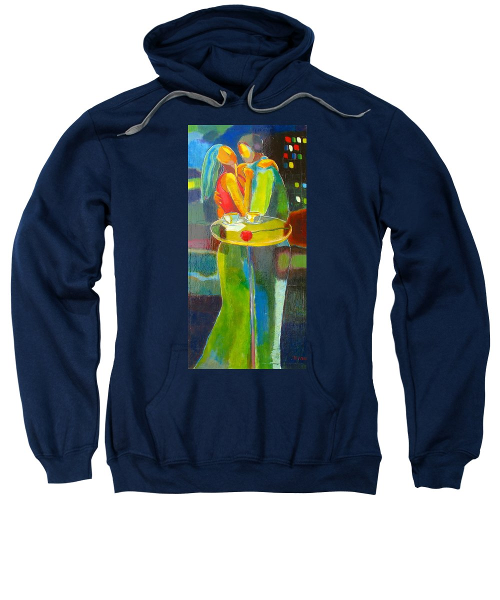 Love Sweatshirt featuring the painting Sweet Moment by Habib Ayat