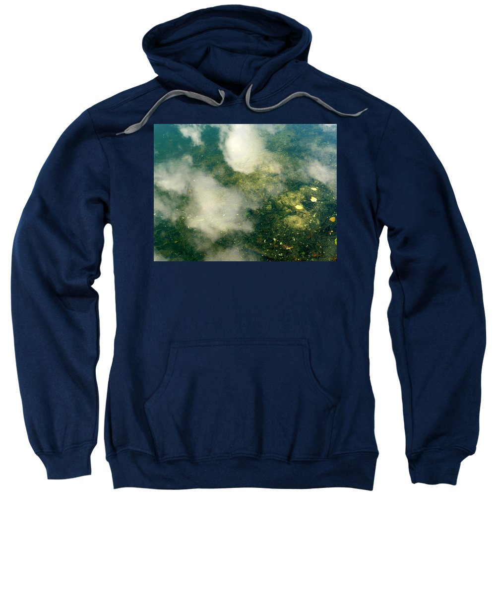 New York Sweatshirt featuring the photograph Swimming Clouds by Anna Duyunova