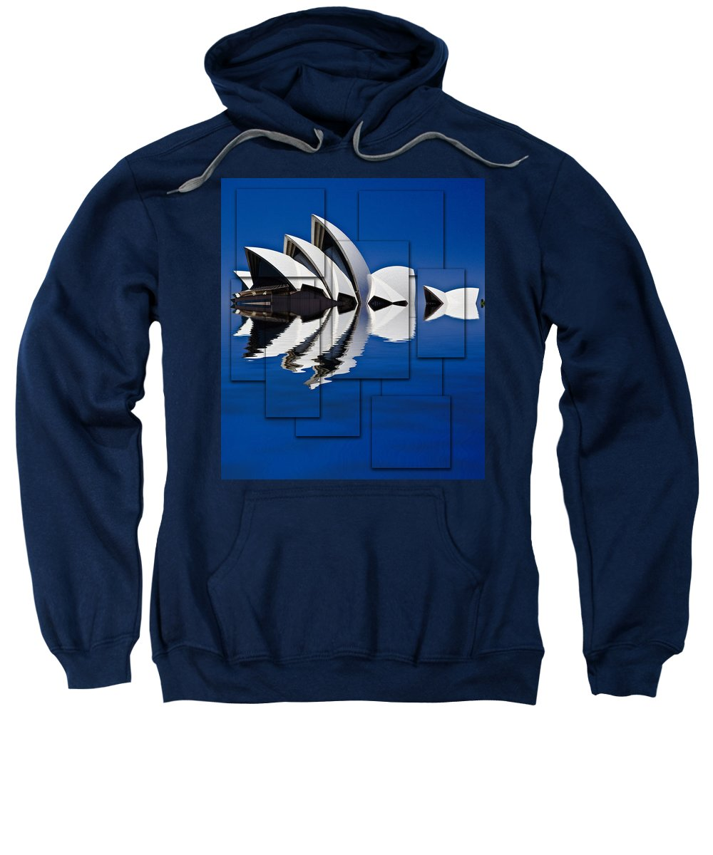 Sydney Opera House Sweatshirt featuring the photograph Sydney Opera House Collage by Sheila Smart Fine Art Photography