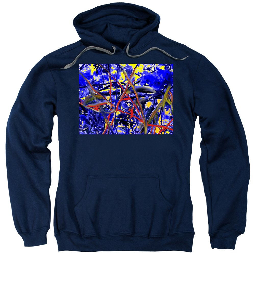 Abstract Sweatshirt featuring the photograph Tangled Web by Ian MacDonald