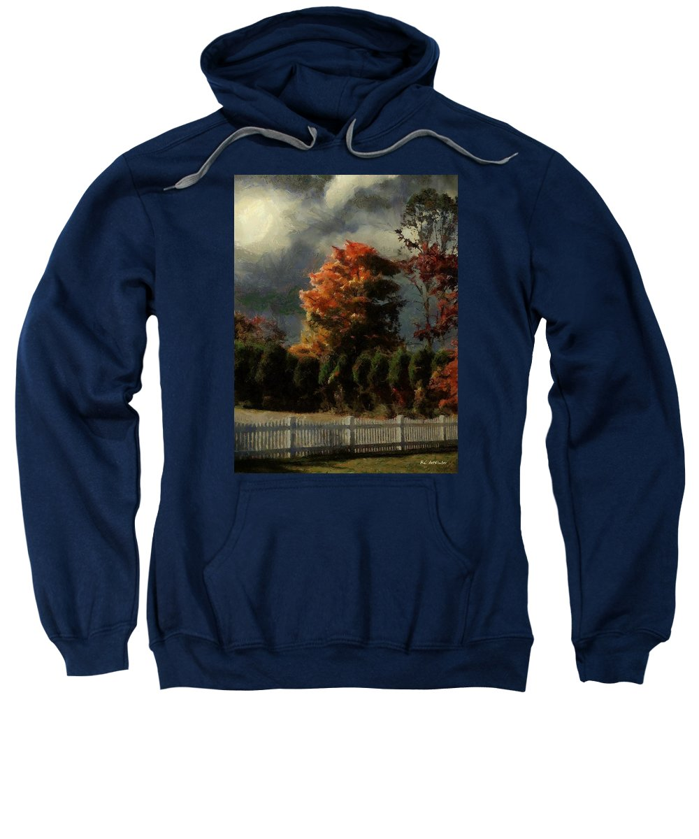 Landscape Sweatshirt featuring the painting Tapestry Of Clouds by RC DeWinter