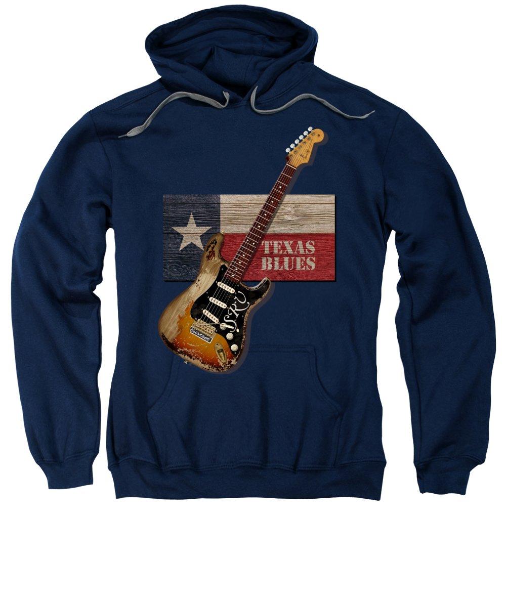 Texas Sweatshirt featuring the digital art Texas Blues Shirt by WB Johnston