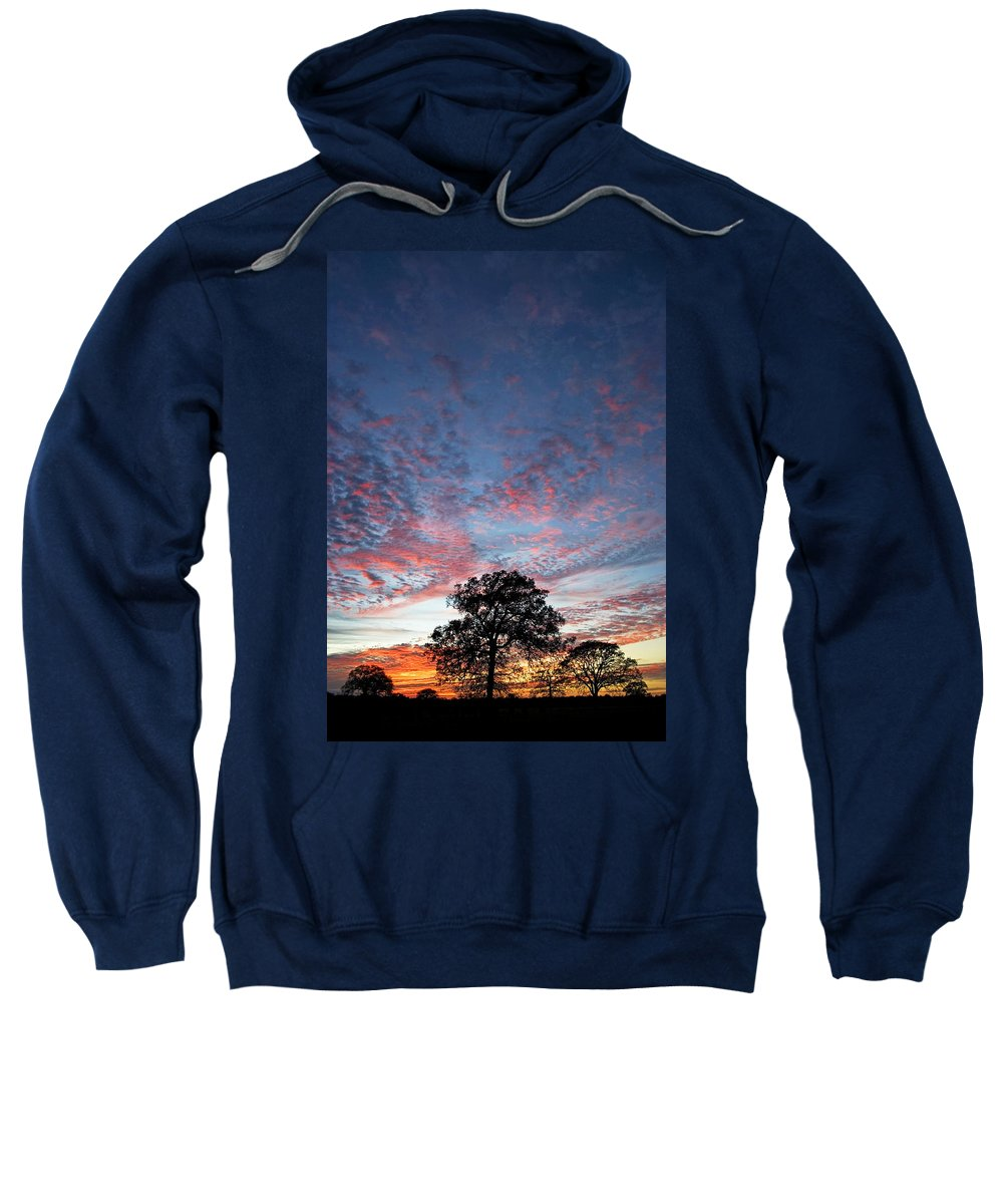 Tree Sweatshirt featuring the photograph Texas Sunset by Skip Hunt