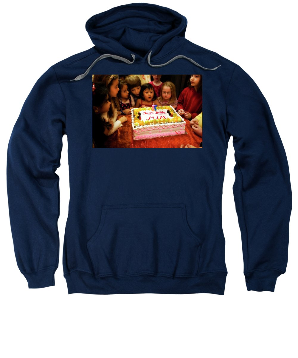 Birthday Sweatshirt featuring the photograph The Blowout Brigade by Madeline Ellis