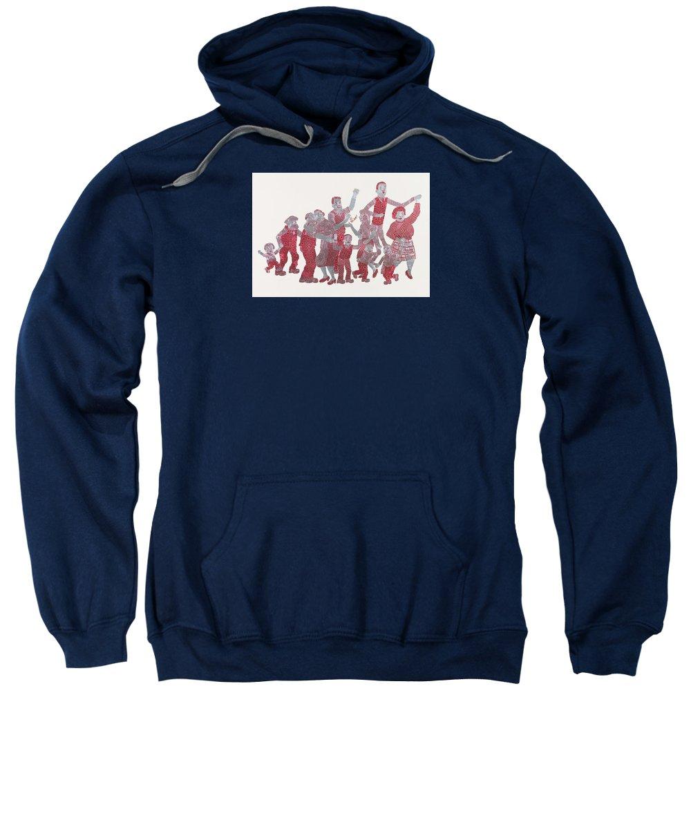 Iconic Scotland Sweatshirt featuring the digital art The Broons by Joy Bain