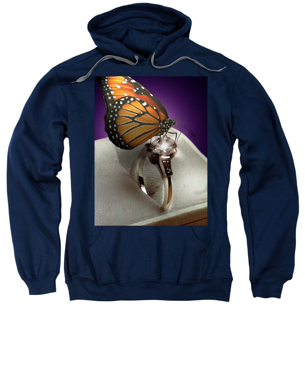 Fantasy Sweatshirt featuring the photograph The Butterfly And The Engagement Ring by Yuri Lev