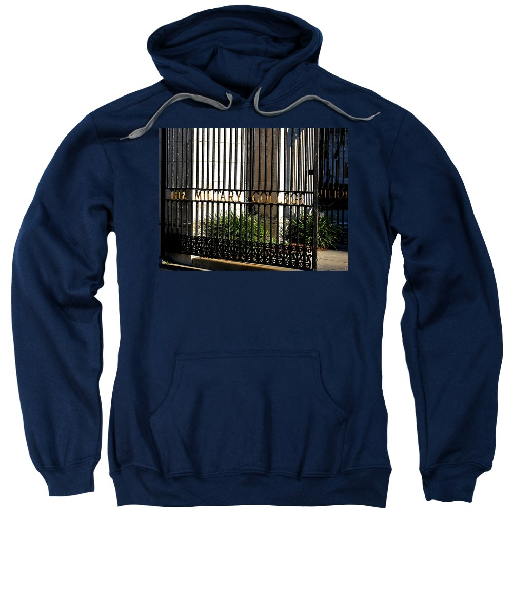 Photography Sweatshirt featuring the photograph The Citadel In Charleston V by Susanne Van Hulst