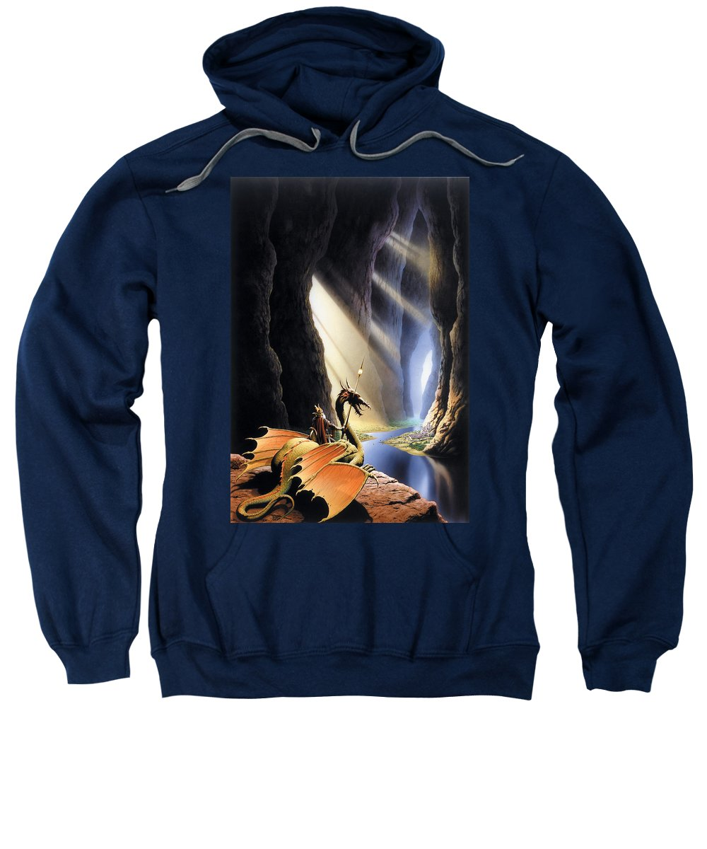 Dragon Sweatshirt featuring the photograph The Citadel by The Dragon Chronicles - Steve Re