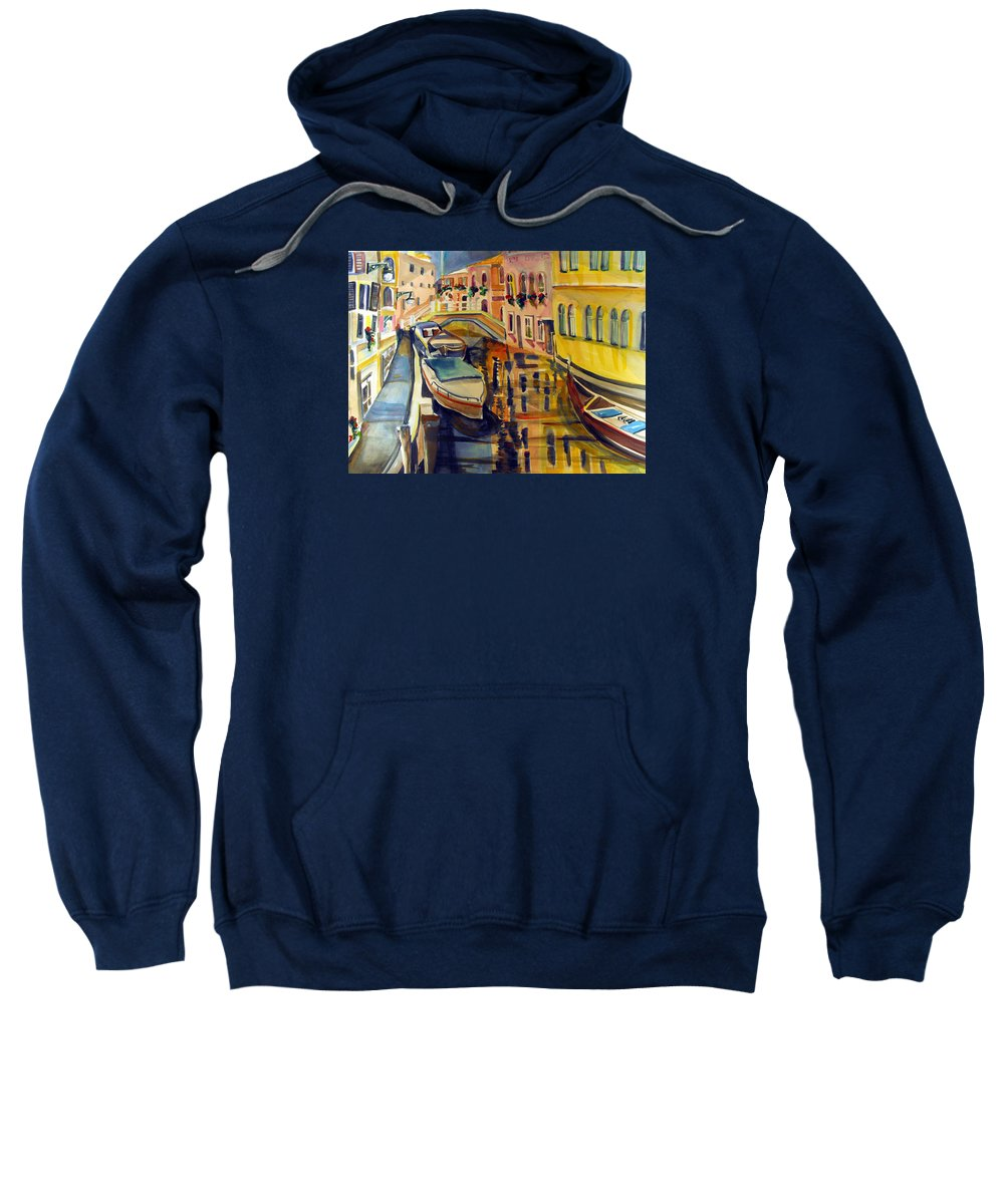 Italy Sweatshirt featuring the painting The City Where The Rainbow Fell by Mindy Newman