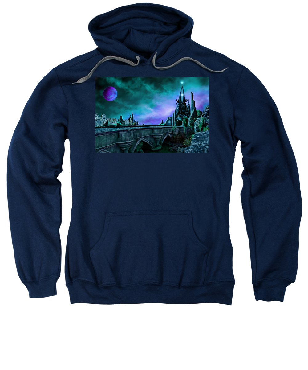 Copyright 2015 - James Christopher Hill Sweatshirt featuring the painting The Crystal Palace - Nightwish by James Christopher Hill