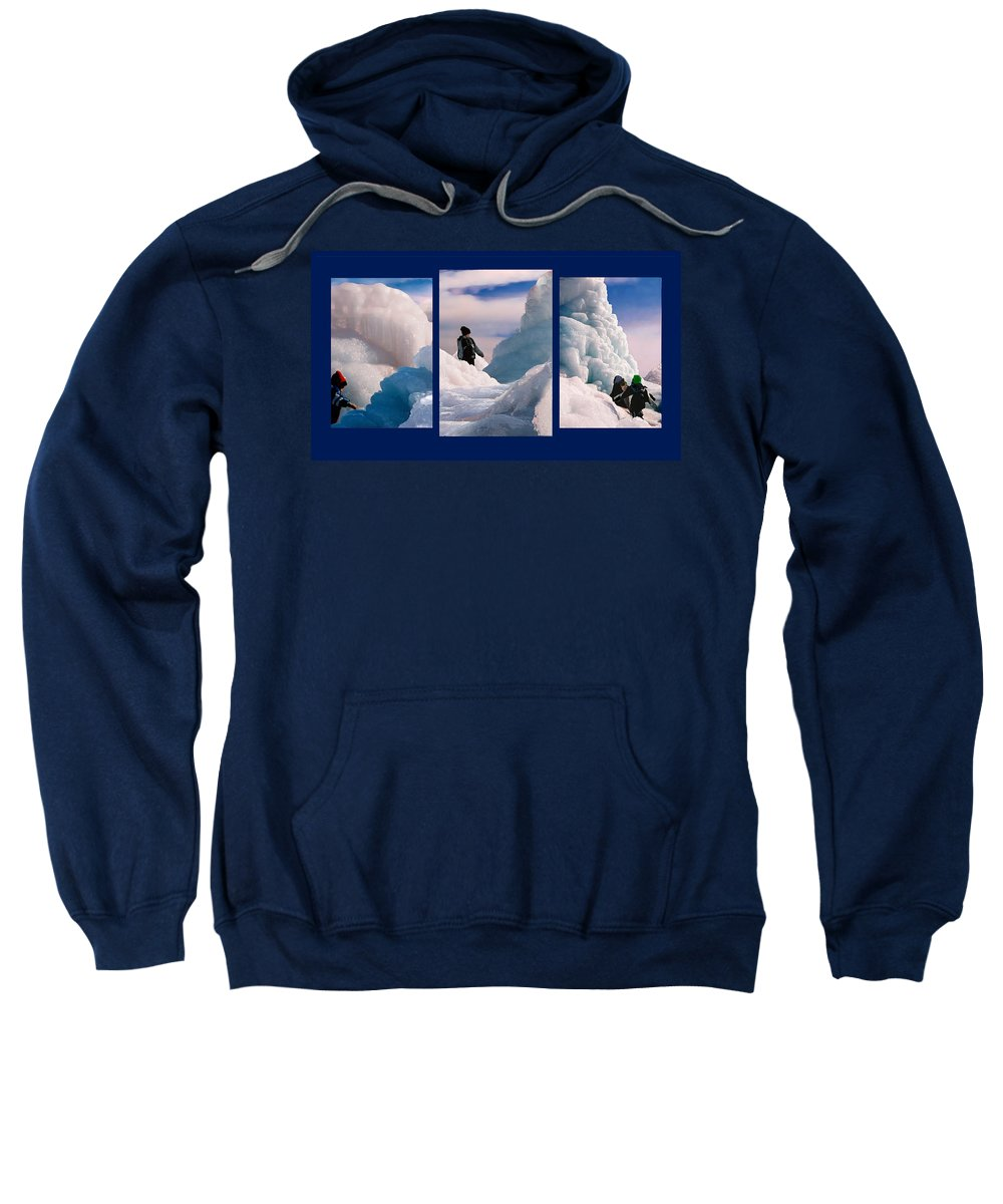 Landscape Sweatshirt featuring the photograph The Explorers by Steve Karol