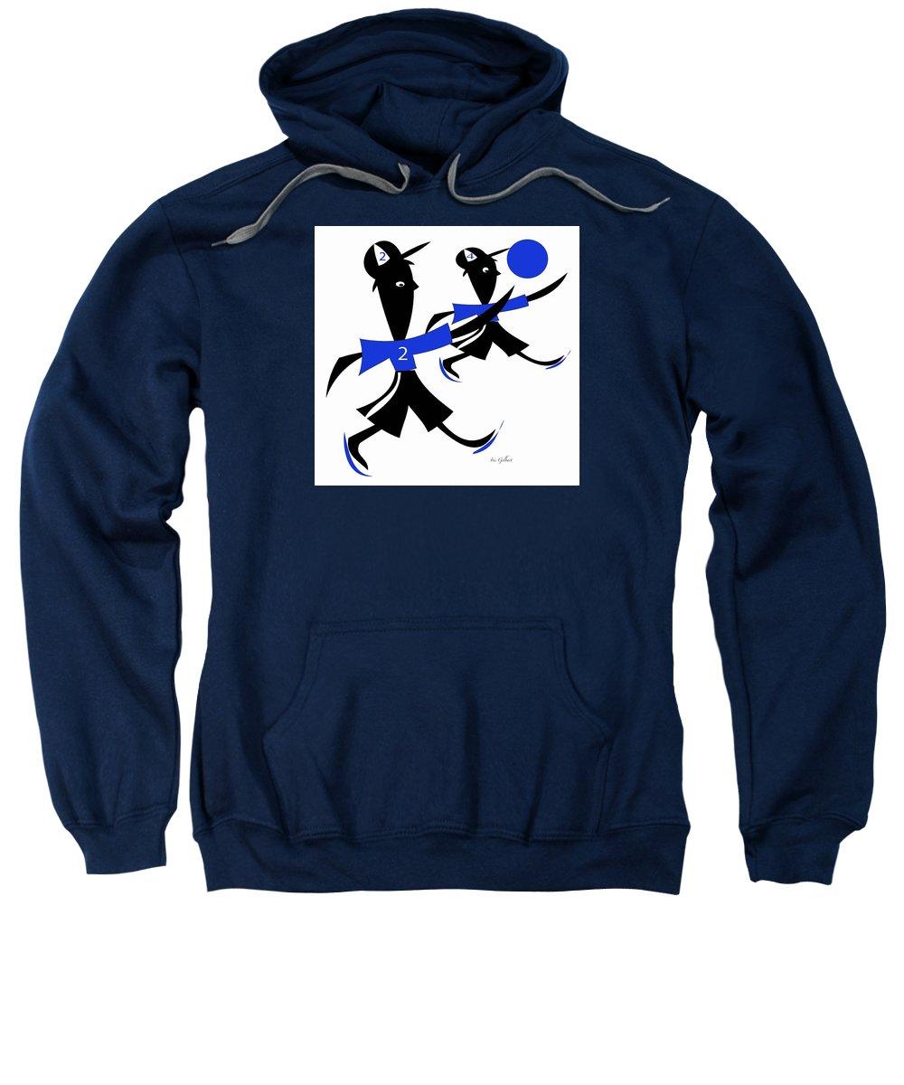 Boys Sweatshirt featuring the digital art The Game 2 by Iris Gelbart