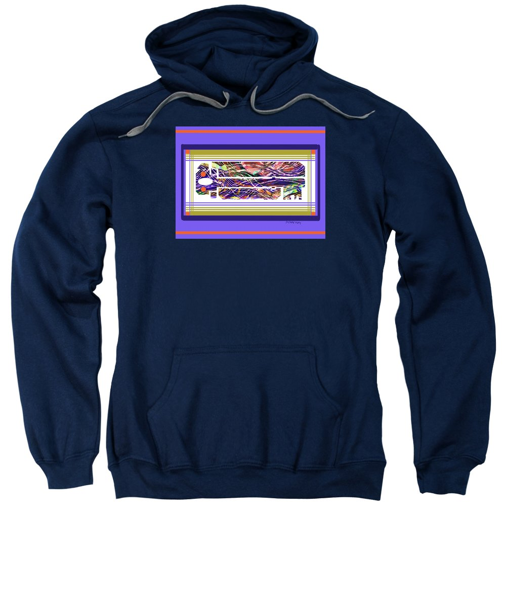 Abstraction Sweatshirt featuring the mixed media The Key Of Abstraction by Donn Kay