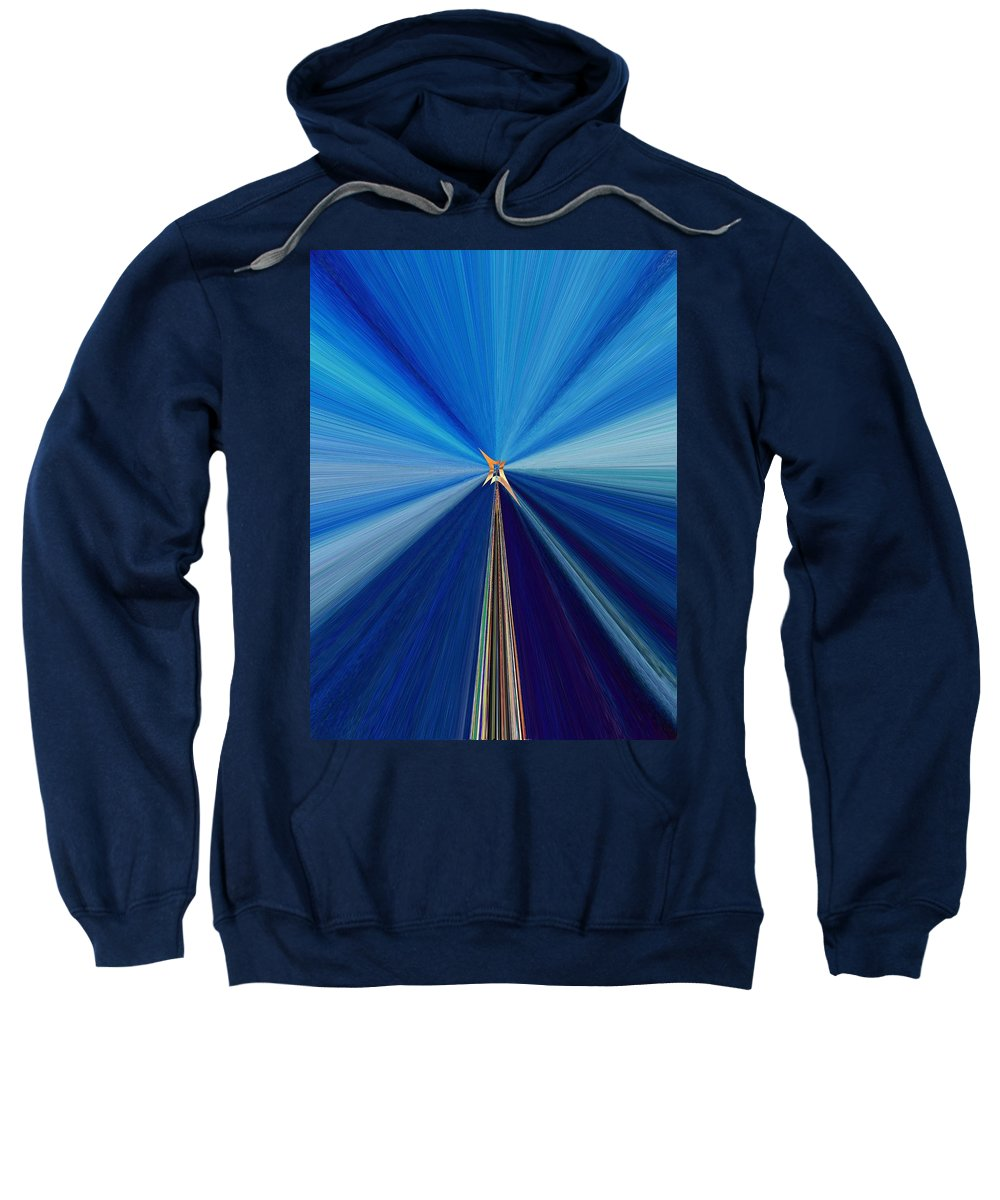 Abstract Sweatshirt featuring the digital art The Light Fantastic Speedway by Tim Allen
