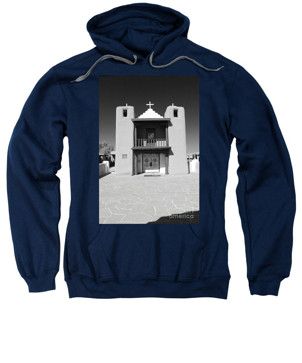 Pueblo Sweatshirt featuring the photograph The Pueblo Church by Christiane Schulze Art And Photography