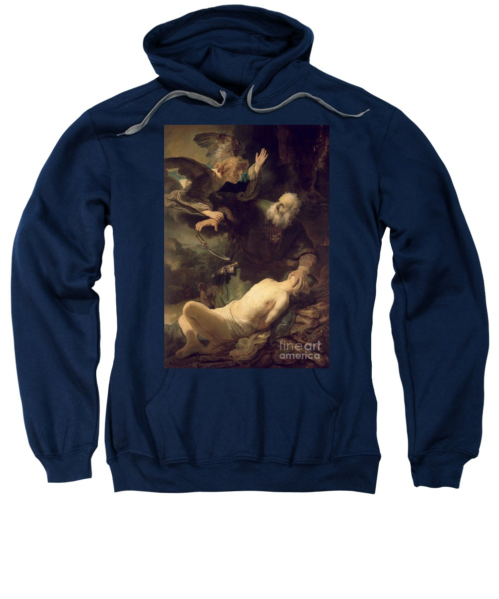 Rembrandt Sweatshirt featuring the painting The Sacrifice Of Abraham by Rembrandt