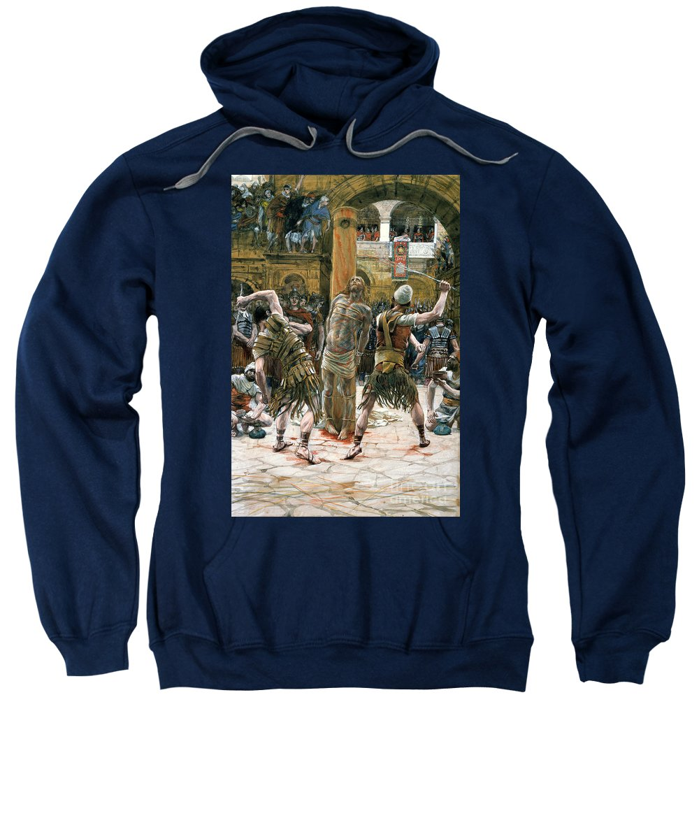 Whips Sweatshirt featuring the painting The Scourging by Tissot