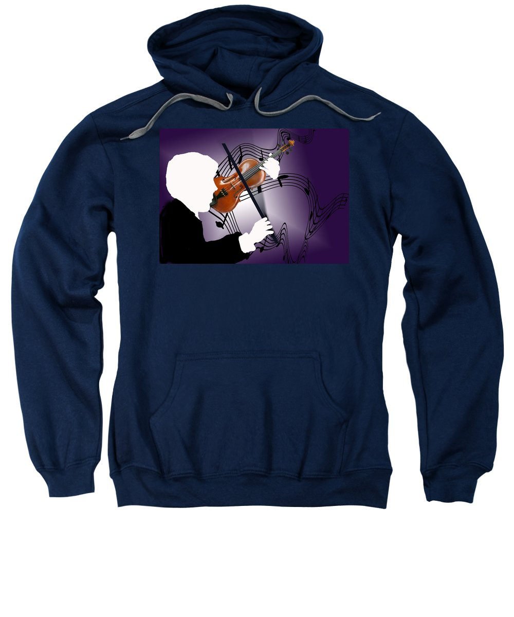 Violin Sweatshirt featuring the digital art The Soloist by Steve Karol