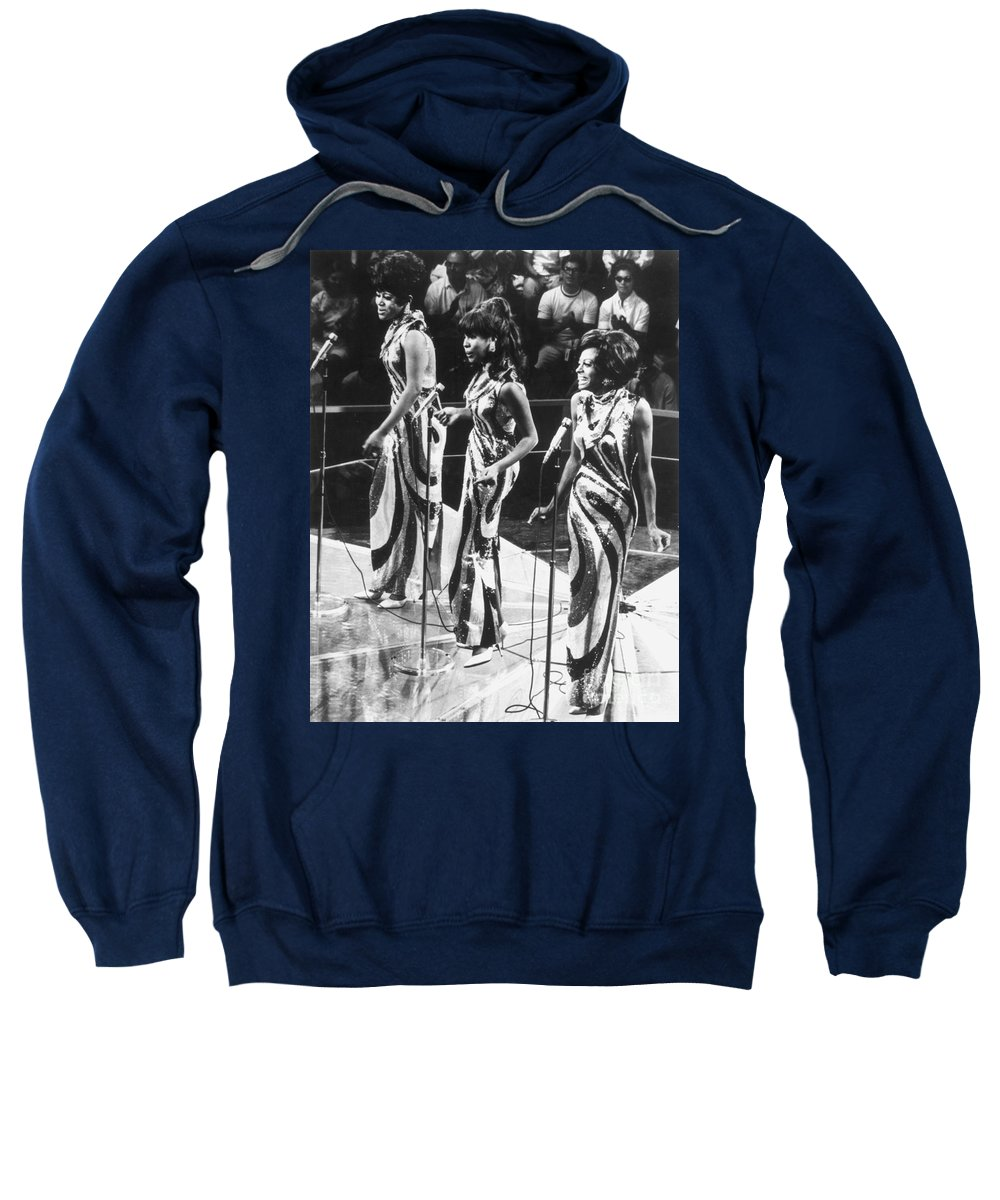 1963 Sweatshirt featuring the photograph The Supremes, C1963 by Granger