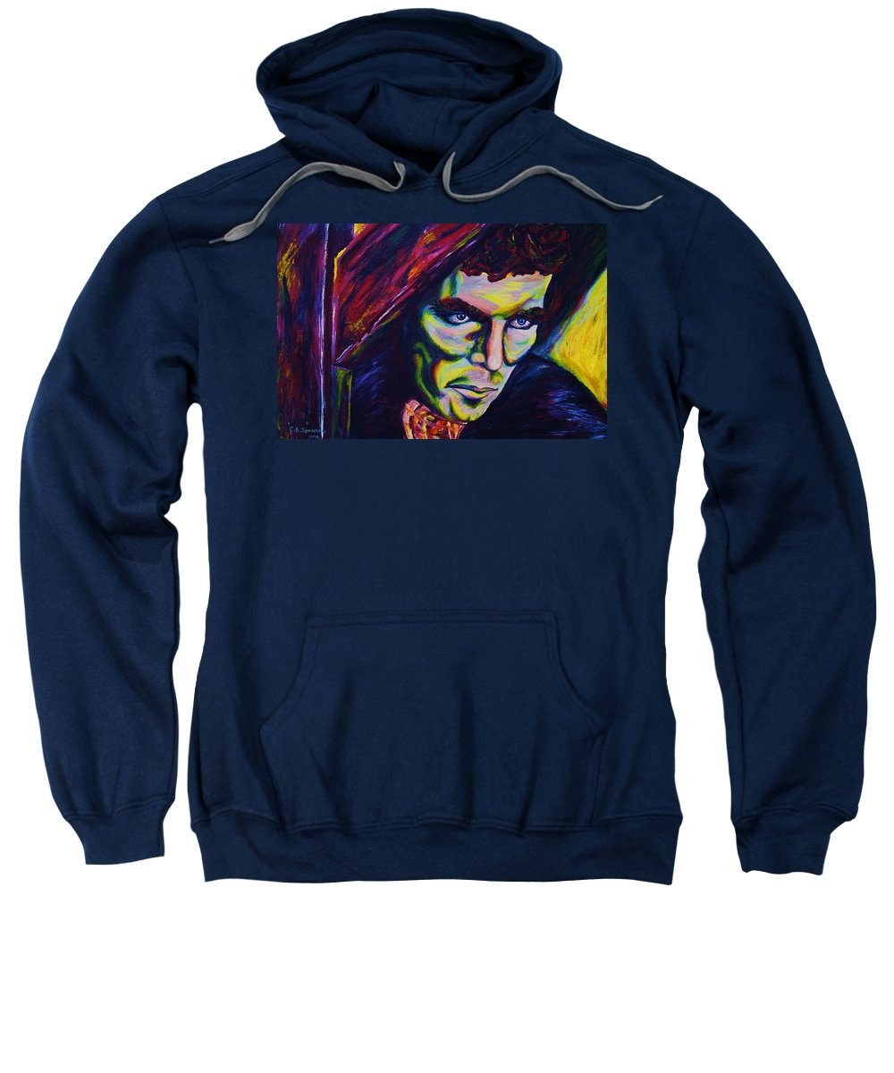 Portraits Sweatshirt featuring the painting The Vampire Lestat by Carole Spandau