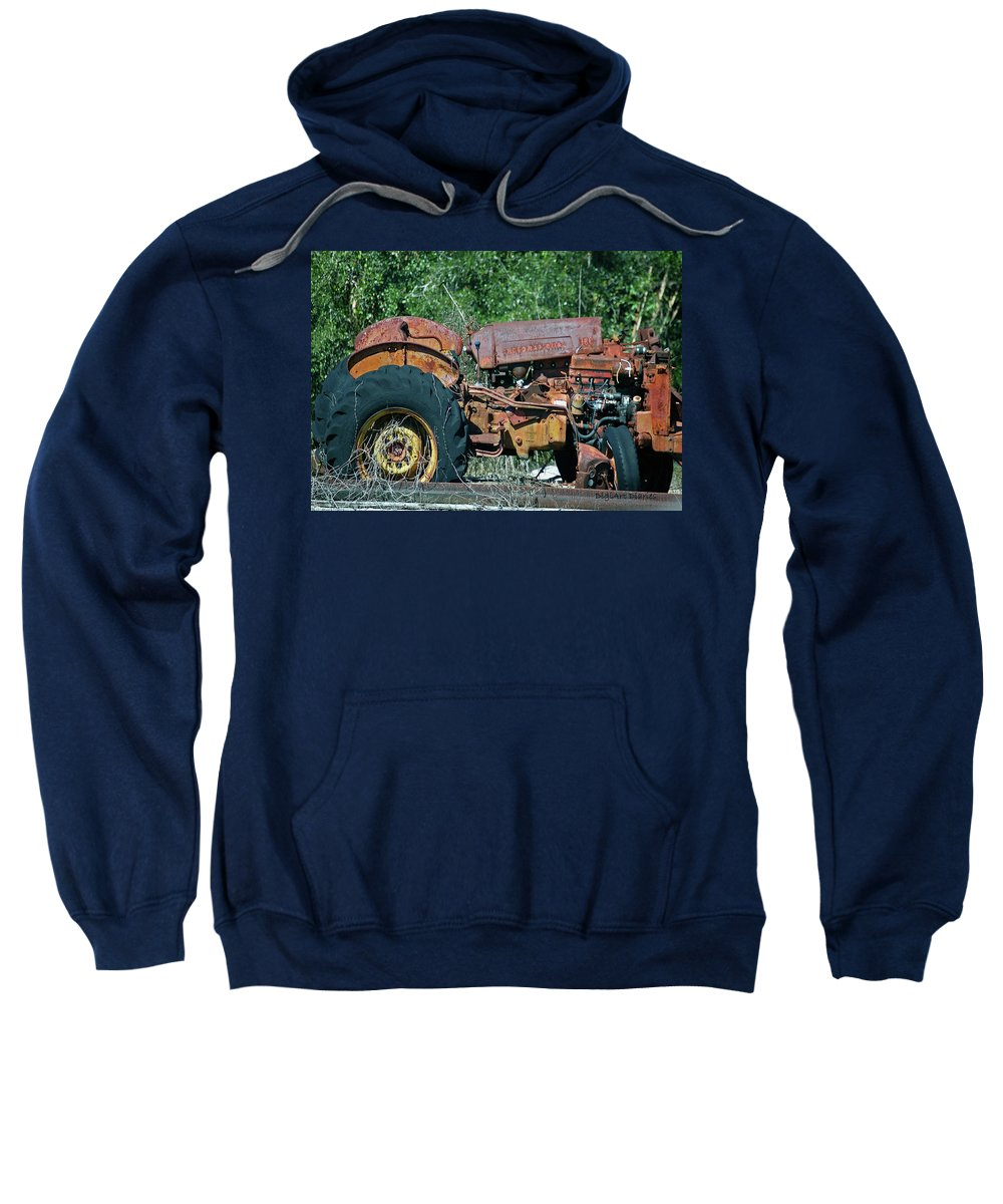 Tractor Sweatshirt featuring the digital art The Wrong Side Of The Tracks by DigiArt Diaries by Vicky B Fuller