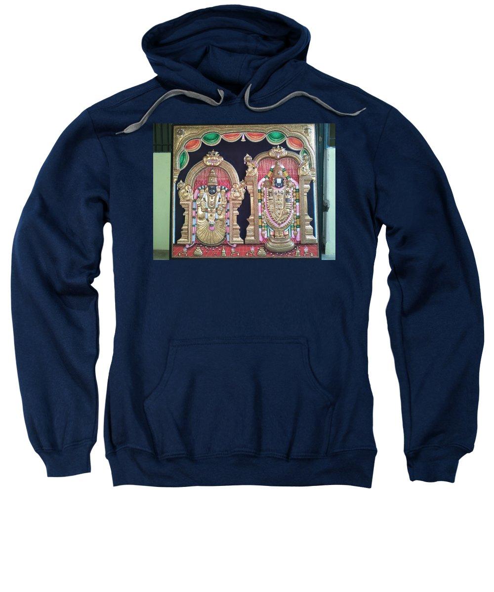 Sweatshirt featuring the painting Thirupathi by Sathasivam