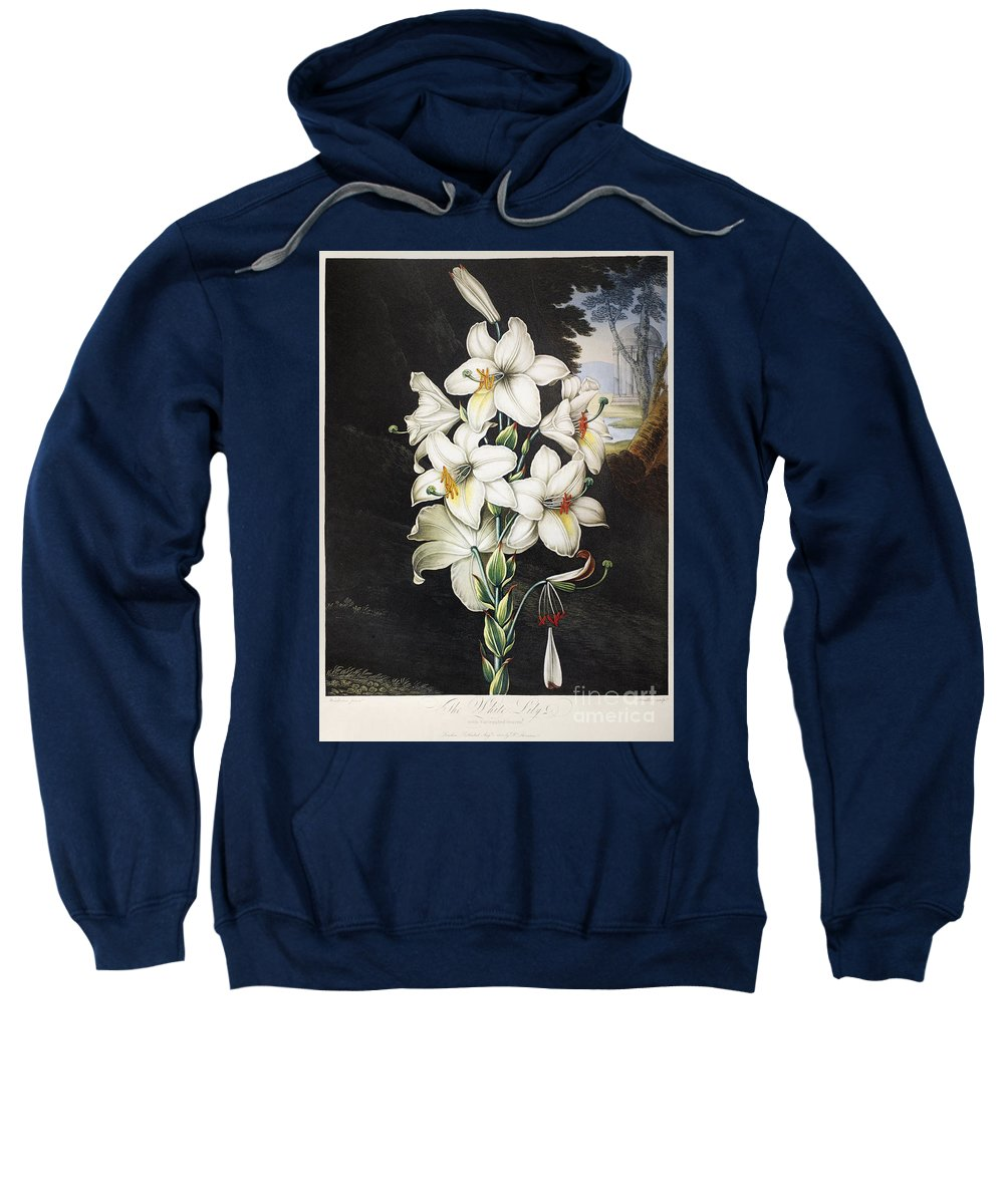 1800 Sweatshirt featuring the photograph Thornton: White Lily by Granger
