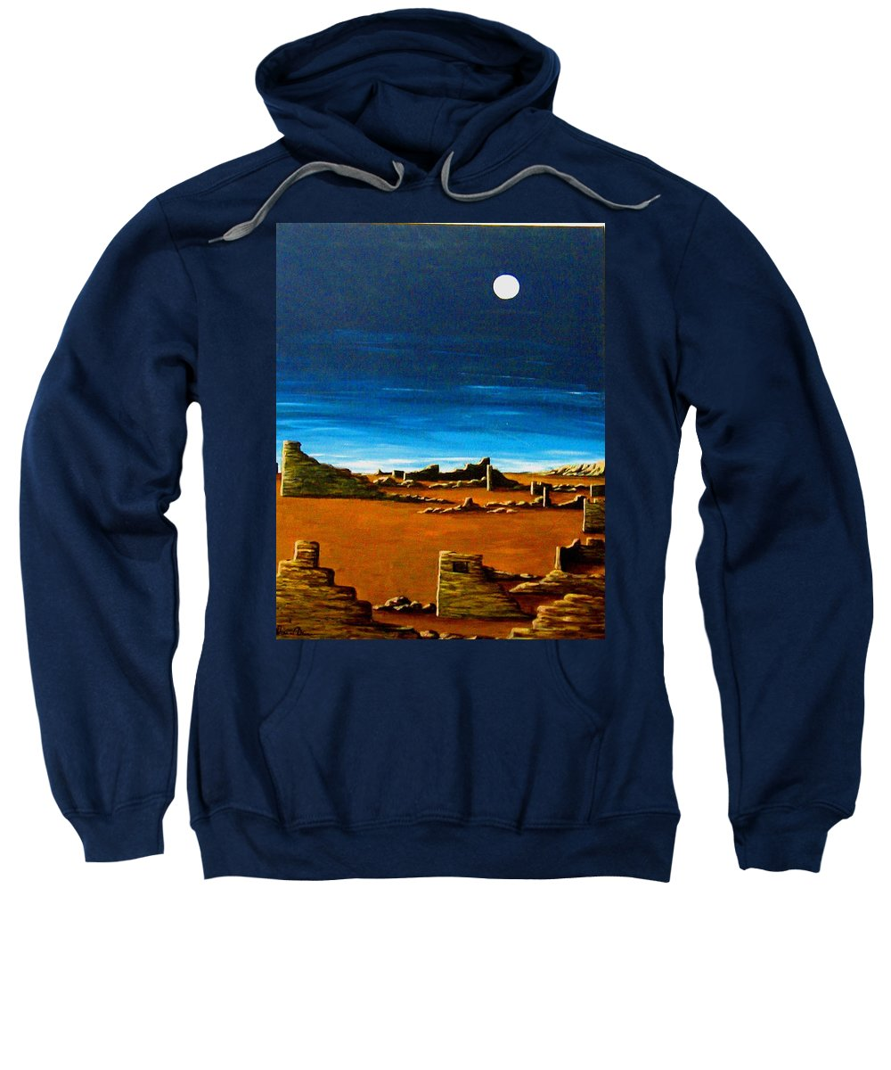 Anasazi Sweatshirt featuring the painting Timeless by Diana Dearen